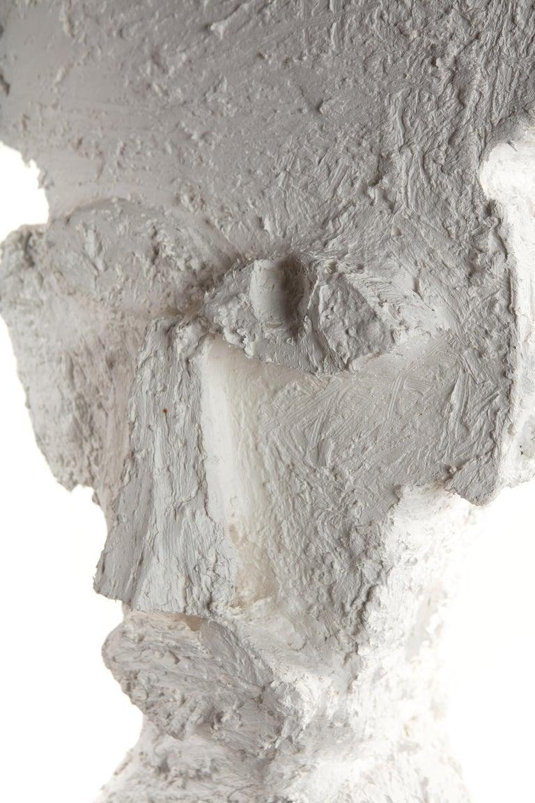 White Plaster Sculptural Figure, 21st Century by Mattia Biagi For Sale 1
