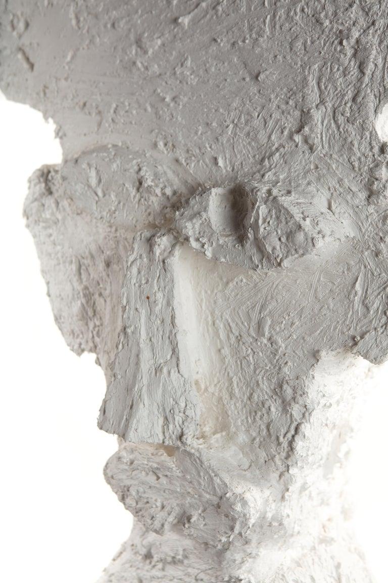 White Plaster Sculptural Figure, 21st Century by Mattia Biagi For Sale 2