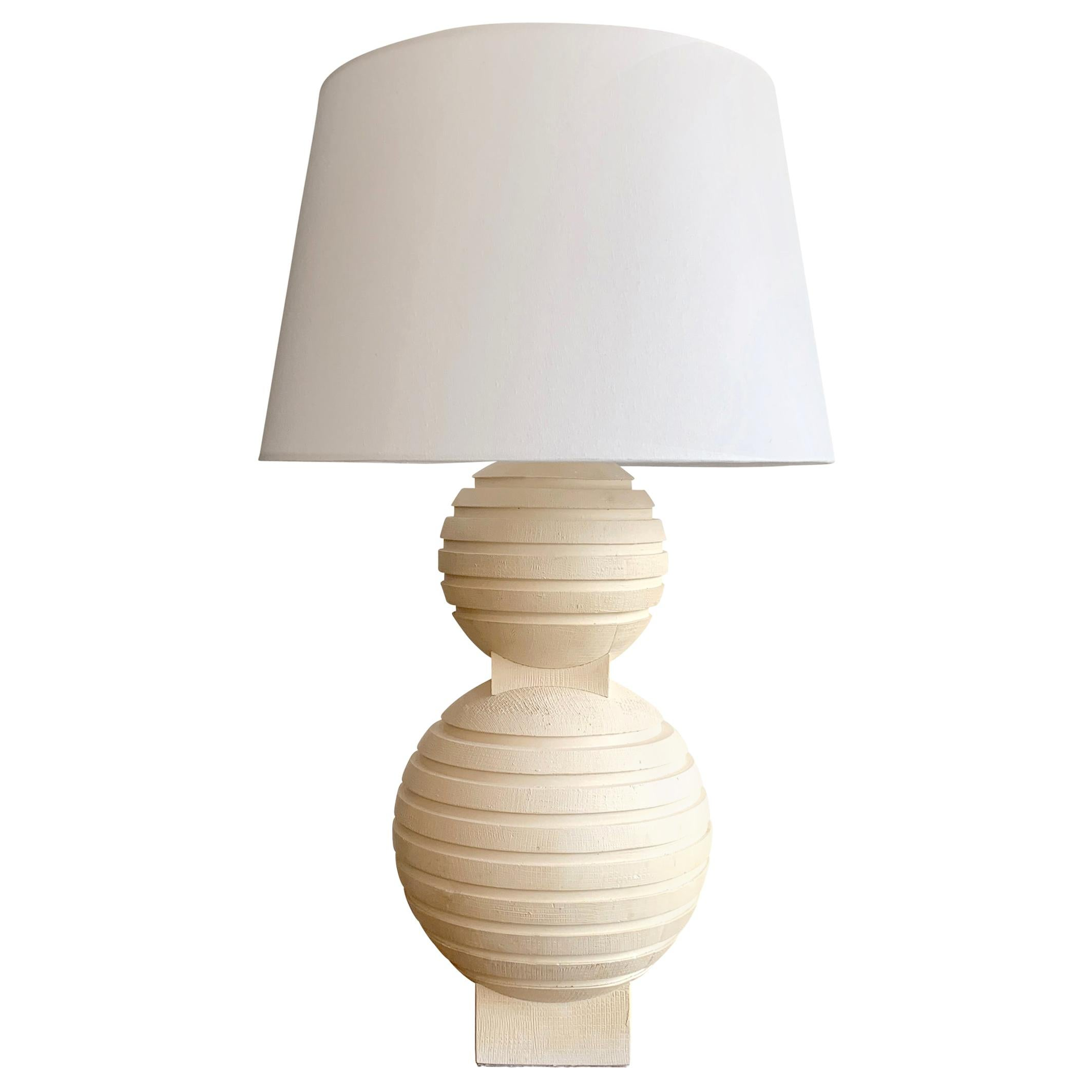 Sculptural Plaster Table Lamp