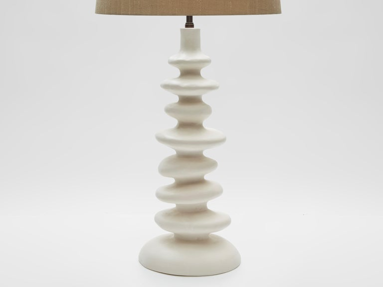 British Sculptural Plaster Table Lamp Hand Made in UK Contemporary 21st Century For Sale