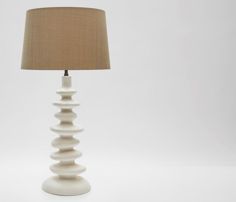 Sculptural Plaster Table Lamp Hand Made in UK Contemporary 21st Century In New Condition For Sale In London, GB