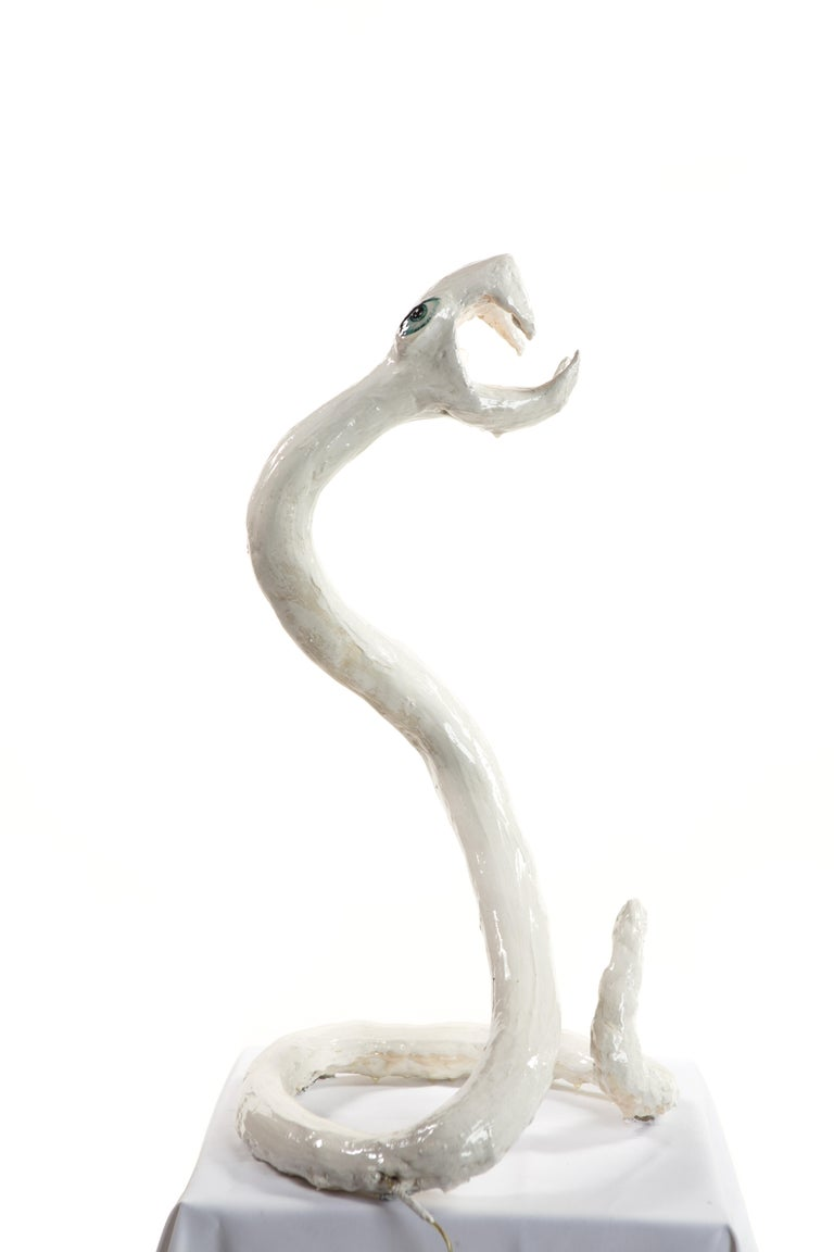 Contemporary White Plaster Sculptural Table Lamp, 21st Century by Mattia Biagi For Sale