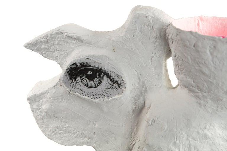 White Plaster Sculptural Table Lamp, 21st Century by Mattia Biagi For Sale 2
