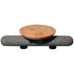 Sculptural Plate Volcanic Stone Pink Limestone (Small)