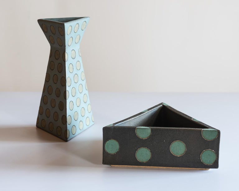 Sculptural Polka Dot Vase by Matthew Ward, New Mexico 2019 For Sale 3