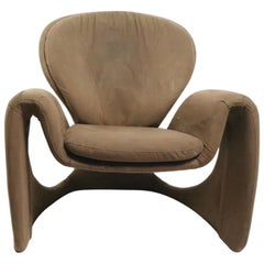 Sculptural Postmodern Lounge Chair after Paulin