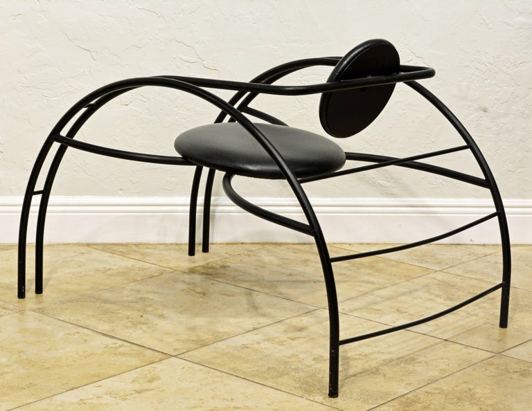 Painted Sculptural Postmodern Quebec 69 Armchair by Canadian Design Group Les Amisca For Sale