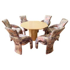 Sculptural Postmodern Dining Chairs by Carson's Furniture, Set of 6