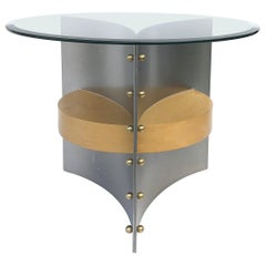Sculptural Postmodern Side Table, Francois Monnet Manner