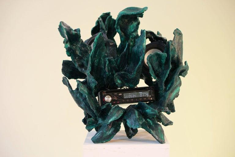 Finnish Sculptural Radio, CD-Player, Contemporary Design Made of Fiberglass, Unique, New For Sale