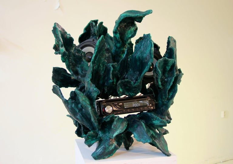 Hand-Crafted Sculptural Radio, CD-Player, Contemporary Design Made of Fiberglass, Unique, New For Sale