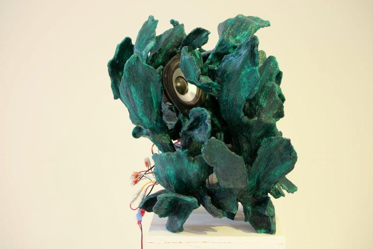 Sculptural Radio, CD-Player, Contemporary Design Made of Fiberglass, Unique, New For Sale 1