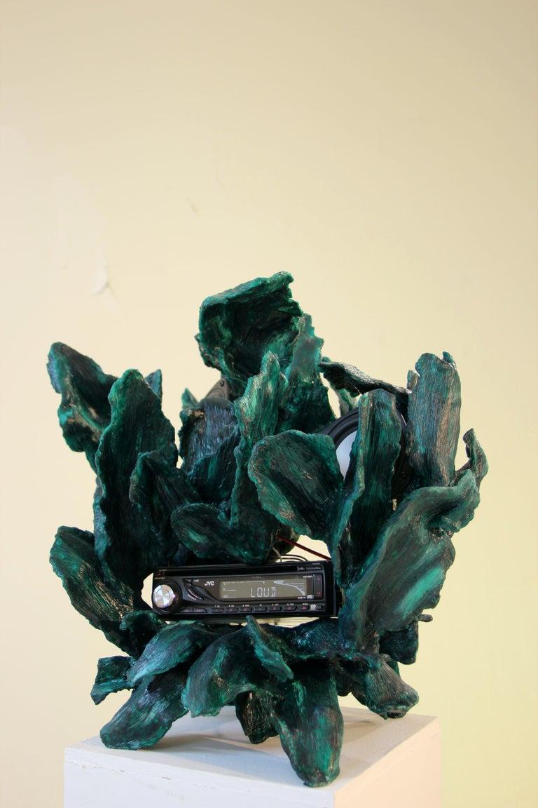 Sculptural Radio, CD-Player, Contemporary Design Made of Fiberglass, Unique, New For Sale 2