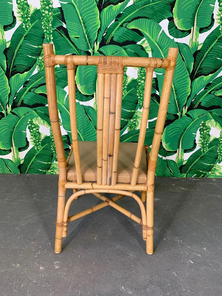 Sculptural Rattan Dining Chairs, Set of 6 In Good Condition For Sale In Jacksonville, FL