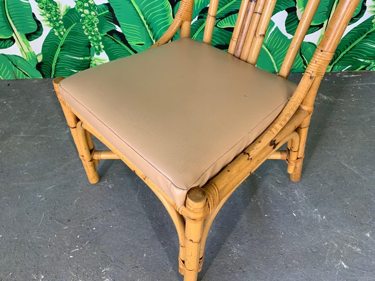 Sculptural Rattan Dining Chairs, Set of 6 For Sale 1