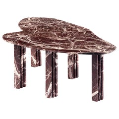 Sculptural Red Marble Table, Lorenzo Bini