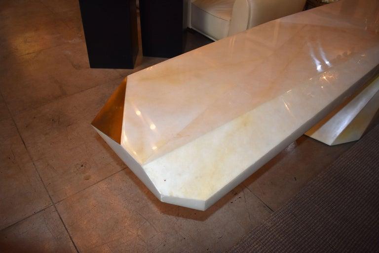 Sculptural Rock Design Parchment Console Table For Sale 1