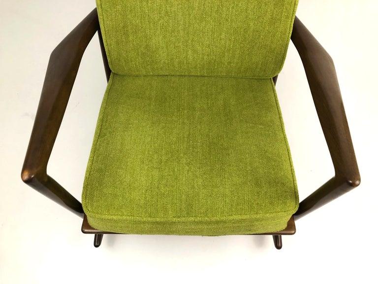 Danish Sculptural Walnut Rocking Chair by Ib Kofod-Larsen For Sale