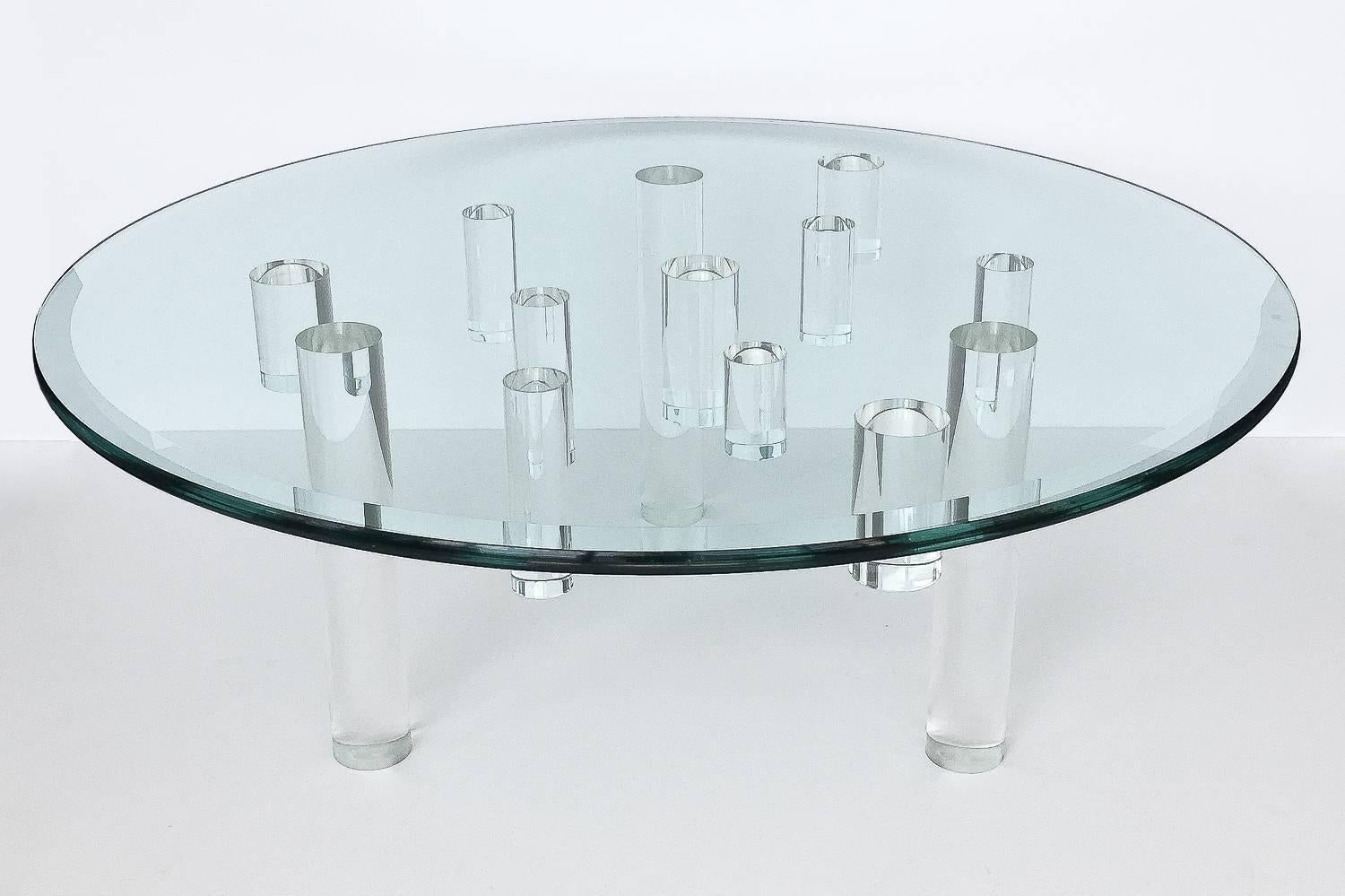 - Sculptural Round Lucite Coffee Table At 1stdibs