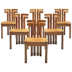 Sculptural Set of Six Italian Dining Chairs