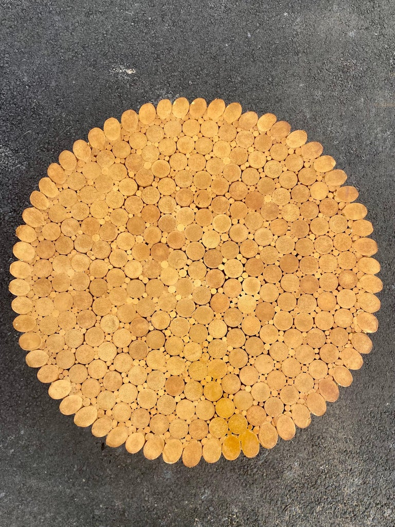 Sculptural Sheaf of Wheat Bamboo Rattan Dining Table, Hollywood Regency McGuire For Sale 3