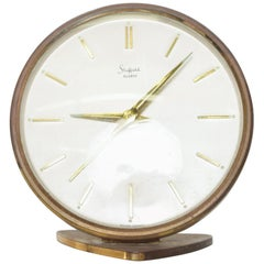 Sculptural Sheffield Vintage Brass Alarm Table Clock Western, Germany, 1960s