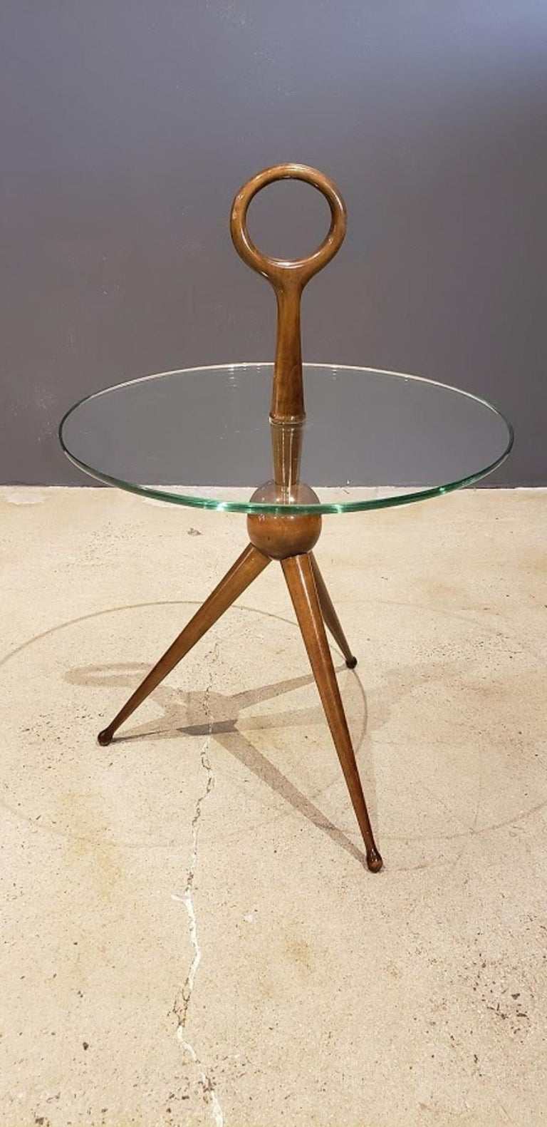 Mid-Century Modern Sculptural Side or Drink Table Attributed to Cesare Lacca, 1950s For Sale