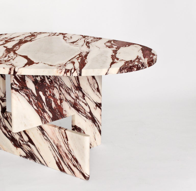 Organic Modern Sculptural Side Table in Marble, Sébastien Caporusso For Sale