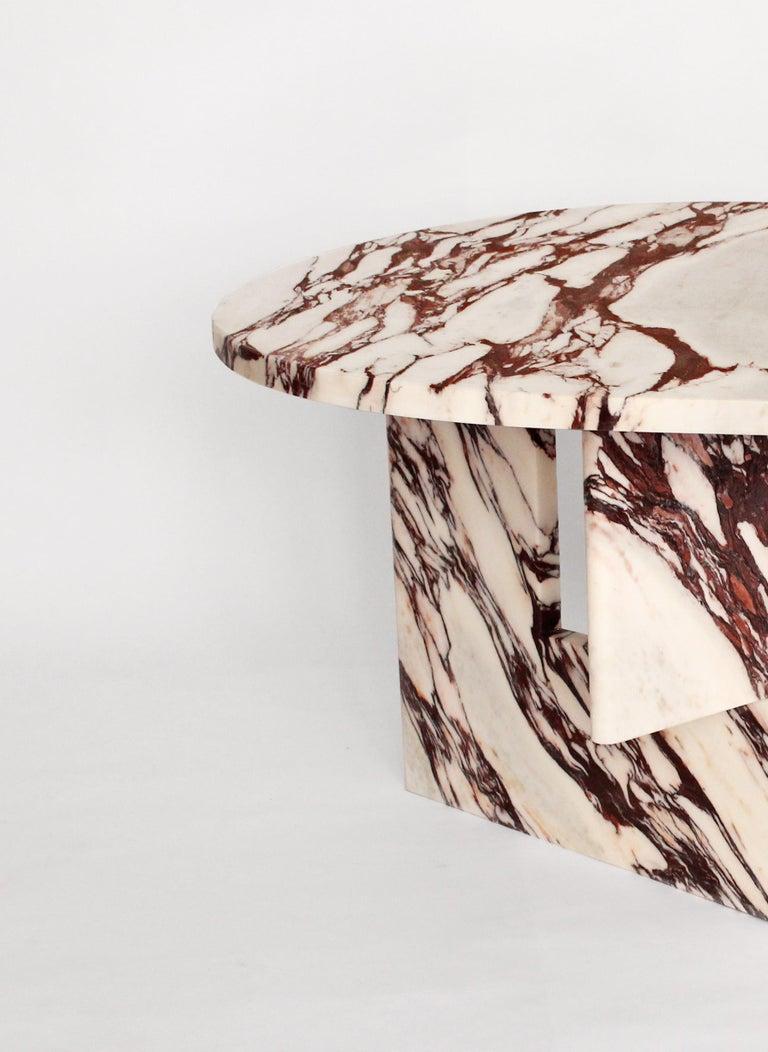 European Sculptural Side Table in Marble, Sébastien Caporusso For Sale