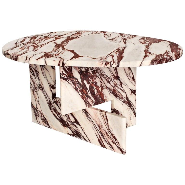 Sculptural Side Table in Marble, Sébastien Caporusso For Sale