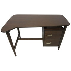 Sculptural Smaller Walnut Desk for American of Martinsville by Merton Gershun
