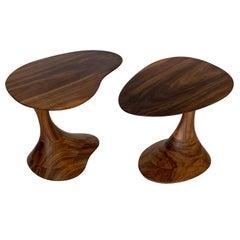 "Sculptural Solid Walnut ""Pedem"" Side Table Morten Stenbaek"