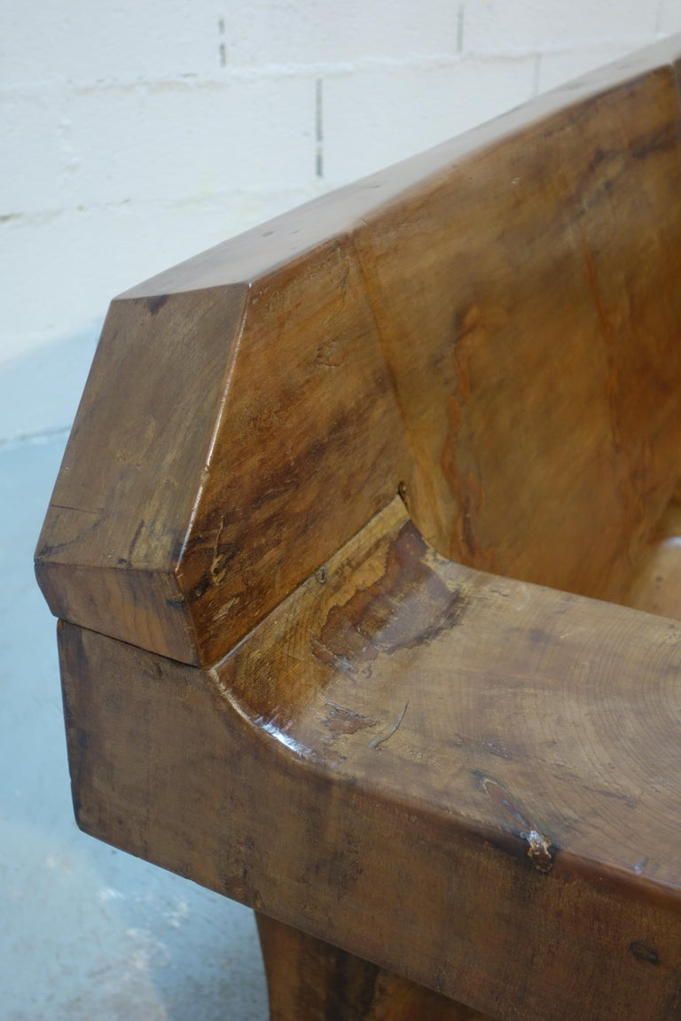 Sculptural Solid Wood and Handcrafted Sofa by Jose Zanine Caldas, circa 1980 For Sale 5