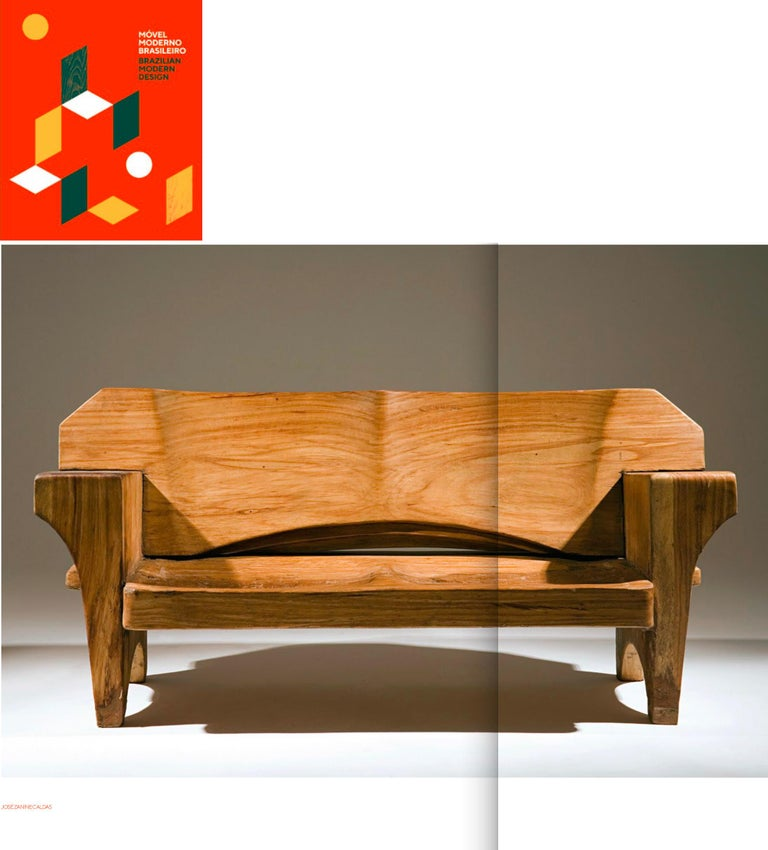 Sculptural Solid Wood and Handcrafted Sofa by Jose Zanine Caldas, circa 1980 For Sale 7