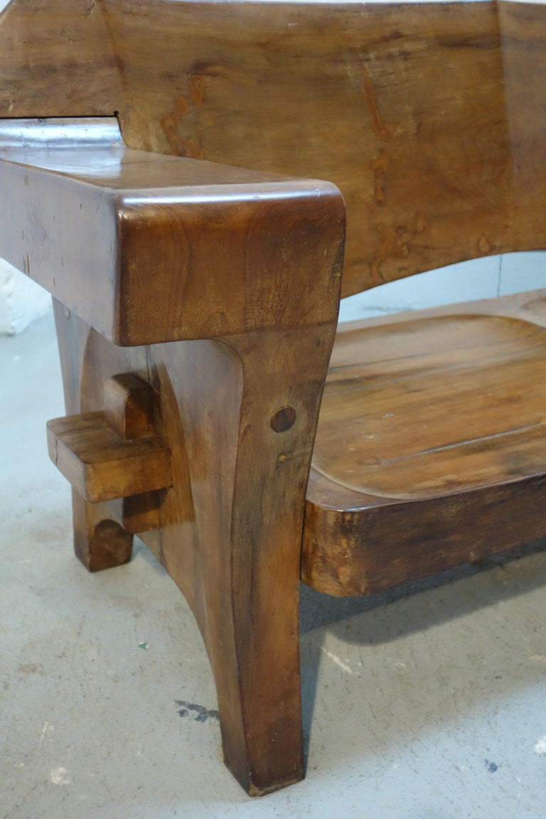 Sculptural Solid Wood and Handcrafted Sofa by Jose Zanine Caldas, circa 1980 For Sale 4