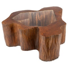 Sculptural Solid Wood and Handcrafted Coffee Table by José Zanine Caldas