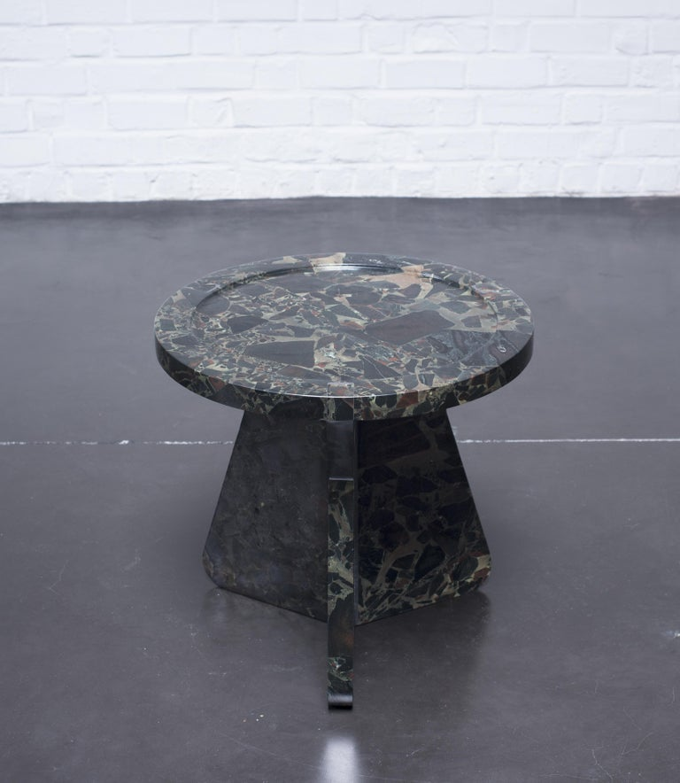 Organic Modern Sculptural Stool in Marble, Sébastien Caporusso For Sale