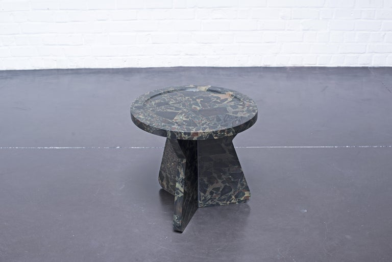 European Sculptural Stool in Marble, Sébastien Caporusso For Sale