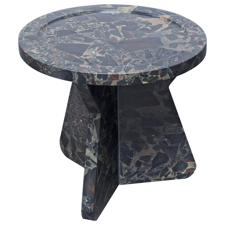 Sculptural Stool in Marble, Sébastien Caporusso For Sale