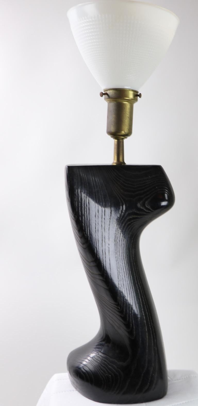 Sculptural Table Lamp in Cerused Oak by Heifetz For Sale 5