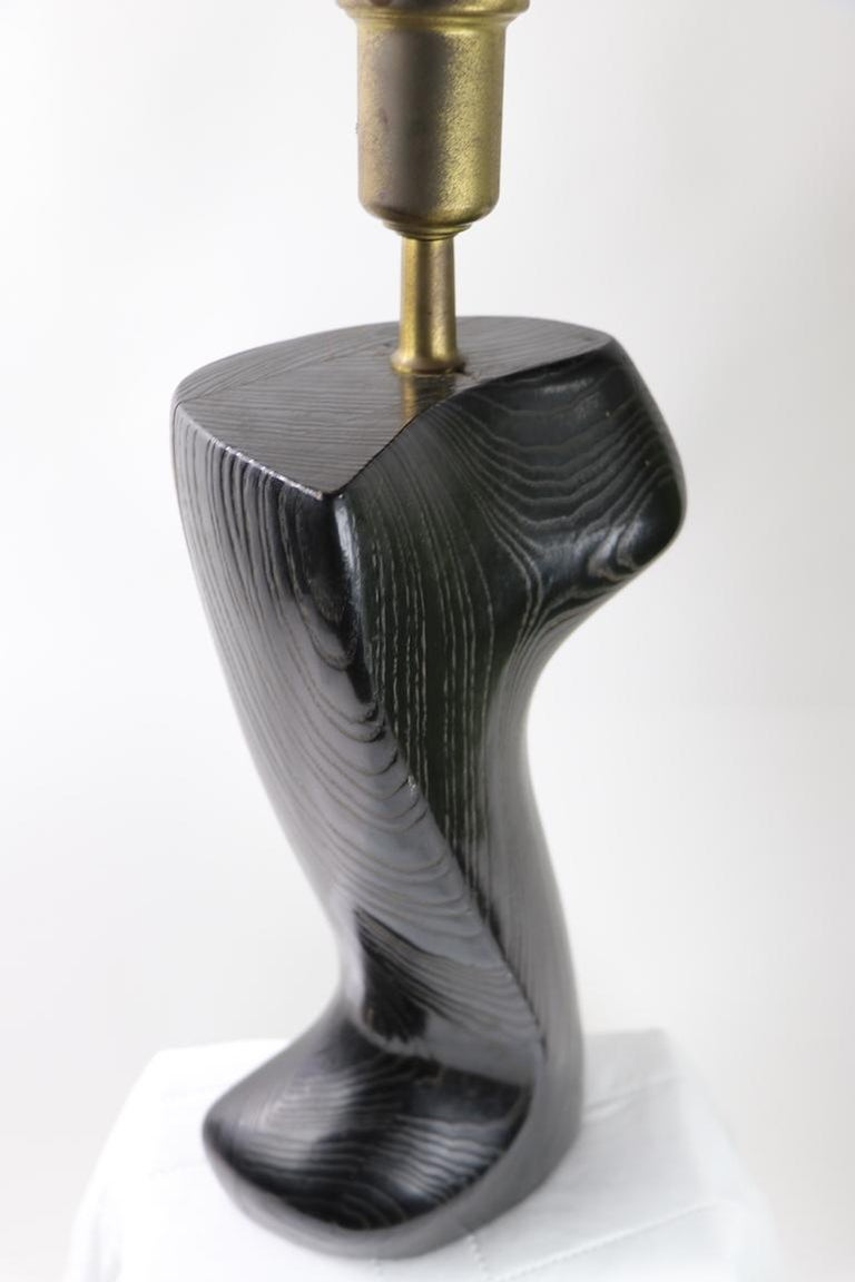 Sculptural Table Lamp in Cerused Oak by Heifetz For Sale 3