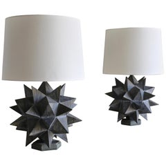 Sculptural Table Lamps, circa 1965