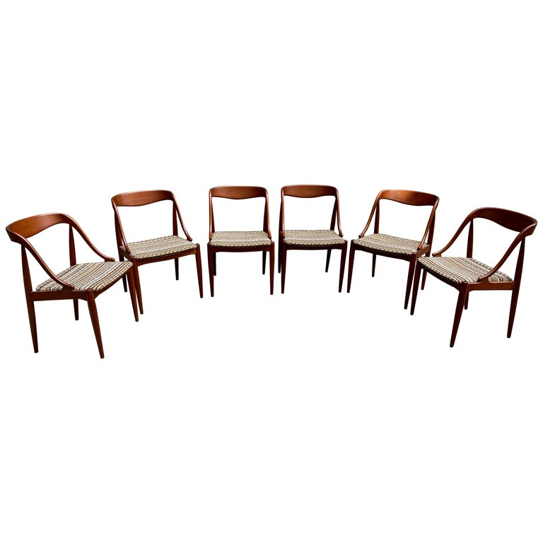 Sculptural Teak Chairs by Johannes Andersen for Moreddi, Denmark For Sale