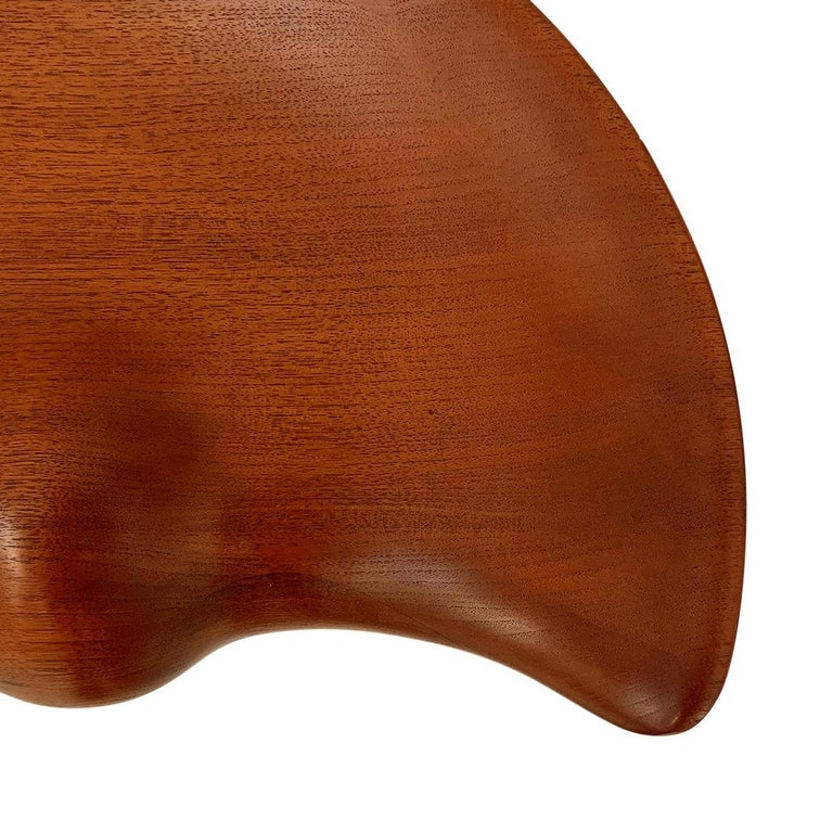 Sculptural Teak Stool by Mogens Lassen In Excellent Condition For Sale In Pawtucket, RI