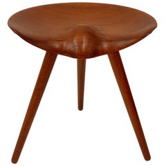 Sculptural Teak Stool by Mogens Lassen