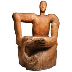 Sculptural Throne Chair