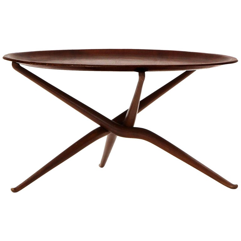 Sculptural Tray Table For Sale