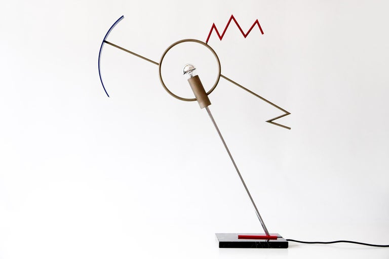 Sculptural Valencia Table Lamp by Javier Mariscal in Memphis Design, 1985, Spain For Sale 6