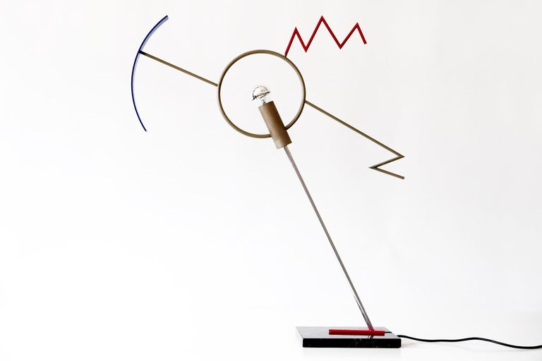 Mid-Century Modern Sculptural Valencia Table Lamp by Javier Mariscal in Memphis Design, 1985, Spain For Sale