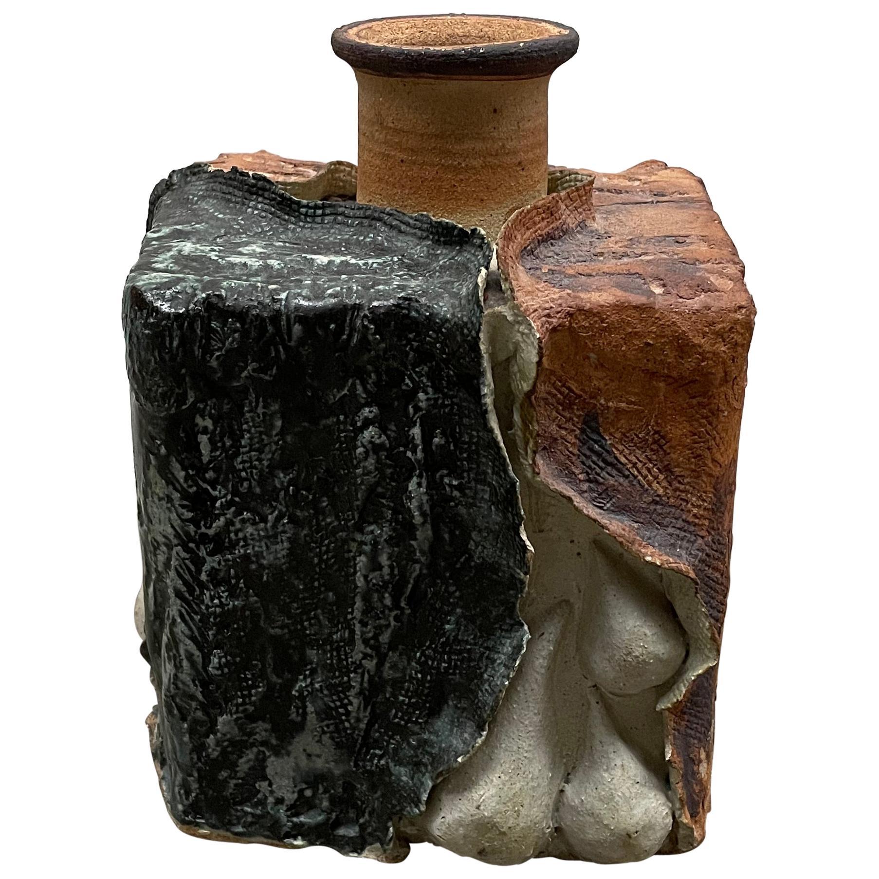 Sculptural Vase in Brutalist Design, 1970s